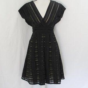 Cynthia Cynthia Steffe Black V Neck Dress